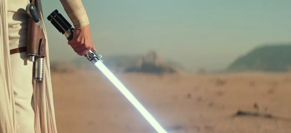 """The significance of Rey's lightsaber in the """"rise of skywalker"""""""